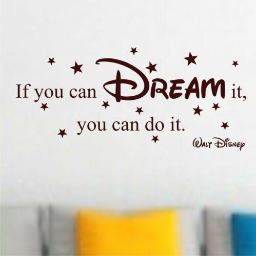 Wandtattoo Walt Disney If you can dream it you can do it 100x42cm Z406 Sterne