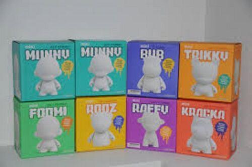 "Kidrobot Munnyworld 7/"" /""hágalo usted mismo Vinilo Suave Fig Foomi Trikky Raffy"