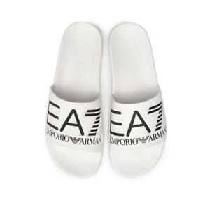 EA7-Emporio-Armani-7-Scarpe-Mare-Unisex-Ciabatte-Bianco-Logo