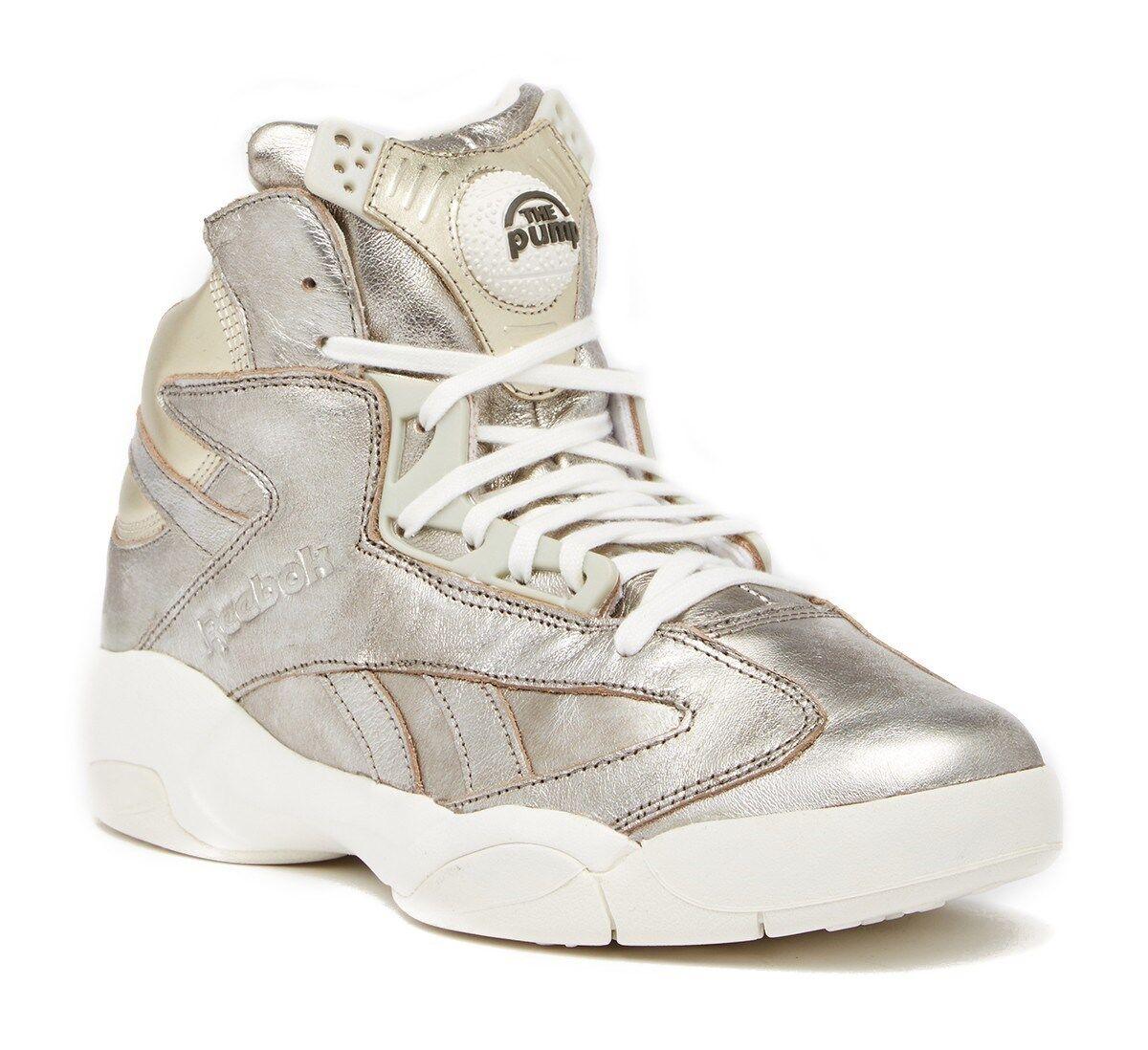 250 NWOB Reebok Shaq Attaq Leather Mid scarpe da ginnastica, Dimensione 7.5US, Coloreeeee Space Fume