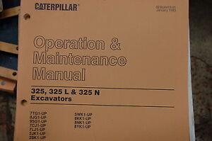 cat caterpillar 325 l n excavator trackhoe operation operator rh ebay com New Caterpillar Excavator 325 Caterpillar Jobs