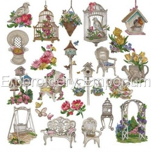 MACHINE EMBROIDERY DESIGNS ON CD OR USB VINTAGE ELEGANCE COLLECTION