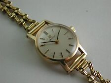 Vintage Solid 9ct Gold 1980 Ladies OMEGA Dress or Cocktail Wrist Watch [S3346]