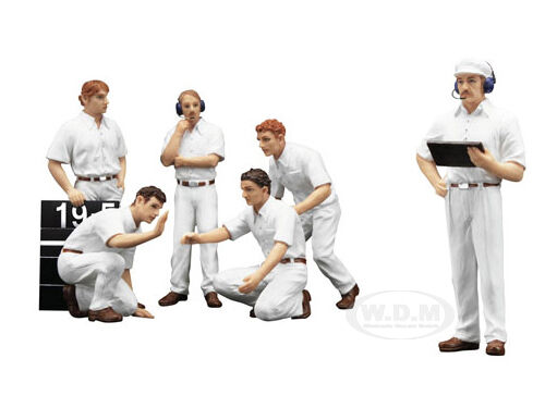 F1 PIT CREW FIGURINES CLASSIC CLASSIC CLASSIC STYLE BLANK WHITE 1 18 BY TSM 12AC10 c4c3f3
