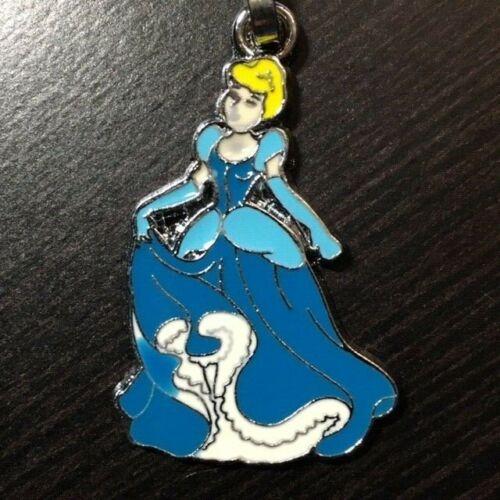 Cinderella Ariel Belle Snow White Aurora Disney Princess Zipper Pull Keychain