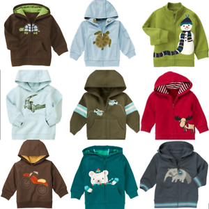 Gymboree-Boys-Hoodies-0-3-6-12-18-24-Baby-Helicopter-Bike-Bear-Red-Moose-Turtle