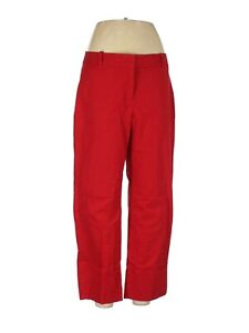 Talbots Women's Bright Red Khaki Cropped Chino Casual Pants Size 8
