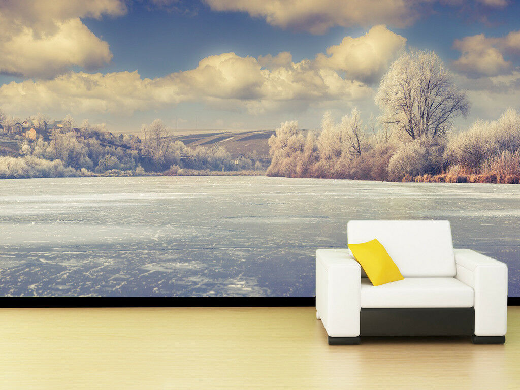 3D Forest Lake Cloud 7 Wall Paper Murals Wall Print Wall Wallpaper Mural AU Kyra