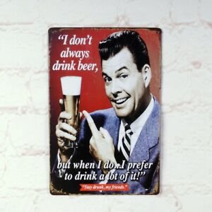 BEER-Metal-Tin-Signs-Vintage-Poster-Home-Pub-Bar-Wall-Decor-Man-Cave