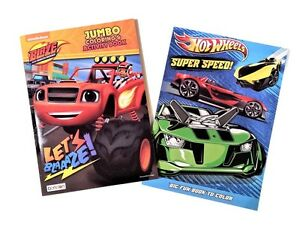 Blaze-and-the-Monster-Machines-amp-Hot-Wheels-Kids-Coloring-Book-Activity-Books