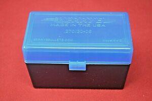 Details about (1) 30-06/270 AMMO BOX / CASE PLASTIC STORAGE / BOX (BLUE)  243 308 BERRY'S