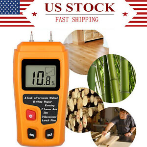 0-99-9-Digital-LCD-Humidity-Wood-Moisture-Meter-Firewood-Electrode-Detector-US