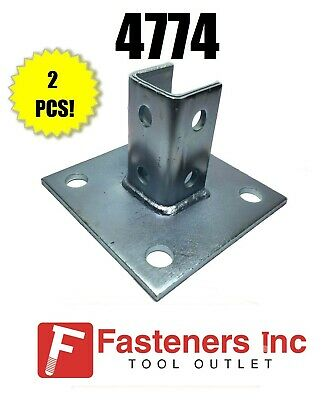B-Line Channel Box of 10 #4768 P2942 6 Hole Post Bases for Unistrut