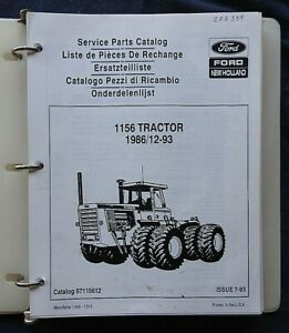 1986-1994 ORIGINAL NEW HOLLAND FORD 1156 TRACTOR PARTS CATALOG MANUAL NICE SHAPE