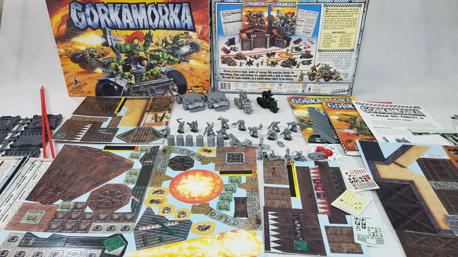 Warhammer 40k-Gorkamorka Juego De Mesa Completo Sin Pintar ENLOMADOR [1997], ENG