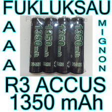 8 x PILES AAA | PILES ACCUS RECHARGEABLE MIGNON 1350mAh Ni-MH 1,2V R3 LR03 NEW
