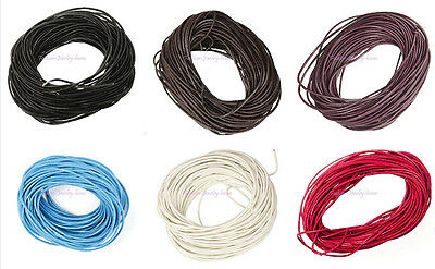 New Fashion Leather Thread Cord For Necklace Bracelet Jewelry Making DIY,6 Color