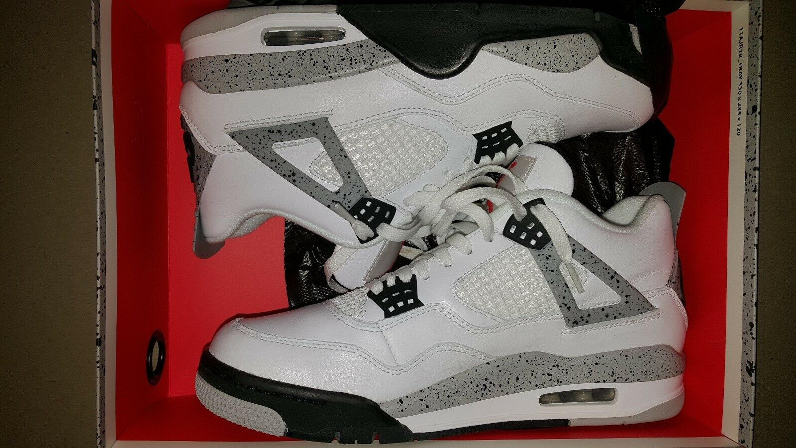 Nike Air Jordan 4 IV Retro OG White Cement 2018 840606-192 SIZE 9.5! USED! The latest discount shoes for men and women