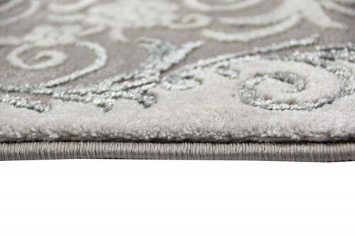 Teppich orientalisch Wohnzimmer Teppich mit Ornamenten und Glitzergarn in Grau
