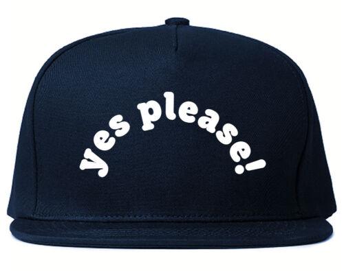 Very Nice Yes Please Girls Black Snapback Hat