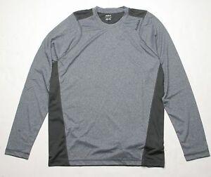 Reebok Flex Playdry Long Sleeve Shirt (L) Gravel X59956