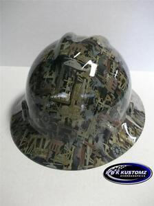 9f3ca8bd0 Details about NEW Custom MSA V GARD Full Brim Hard Hat OILFIELD Camo Pattern