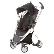 Quinny Zapp Xtra Folding Seat Stroller Black Irony (White Frame) New!! Open Box!