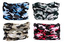 4pc Camo Headband Hair Band Headwrap Face Mask Bandana Neck Shield Gaiter SPF40