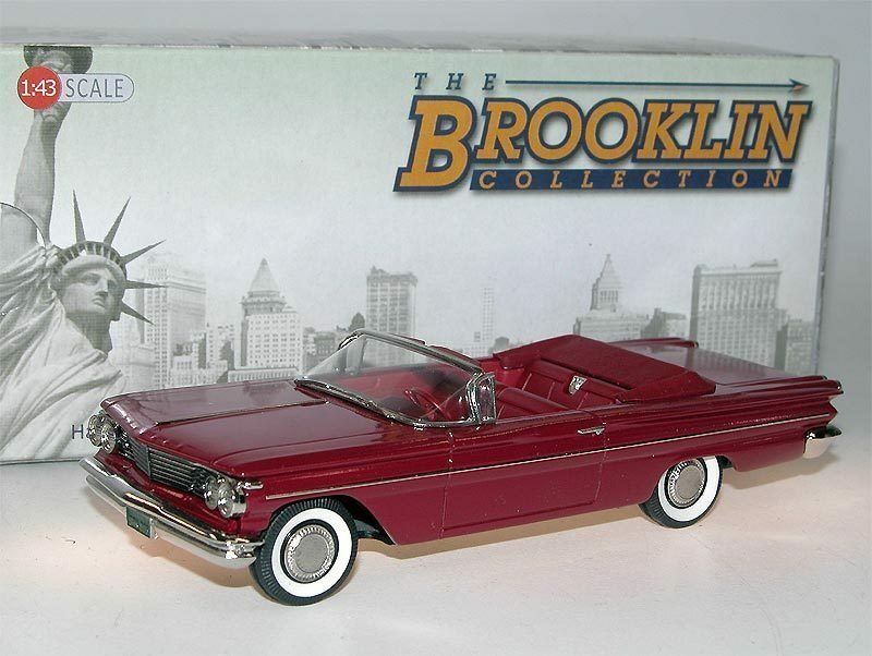 Brooklin models BRK 205 - 1960 Pontiac Catalina converdeible coronado rosso 1 43