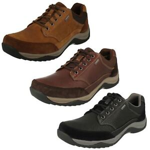 guerra Eso nadie  Mens Clarks Baystonego GTX Casual Gore-Tex Lace Up Shoes | eBay