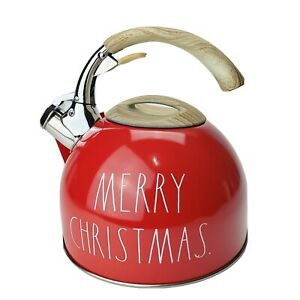 Rae Dunn by Magenta Red New Tea Kettle Pot Merry Christmas Holiday 2020 NWT