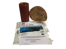 "3M 320 Grit 6/"" Red PSA Stickit Abrasive Sandpaper Disc 100//Roll DA 01109 1109"