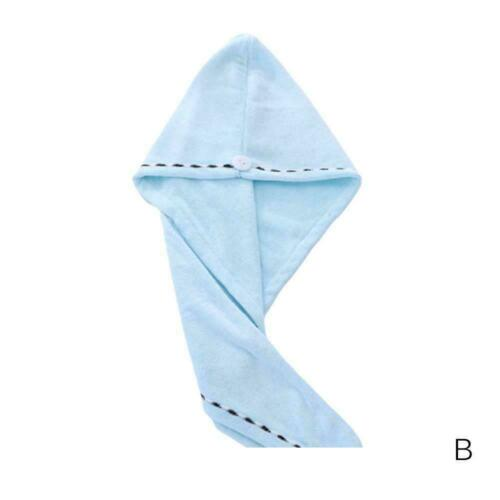 RAPID DRYING HAIR TOWEL CAP--Thick Absorbent Shower Cap Many Colors