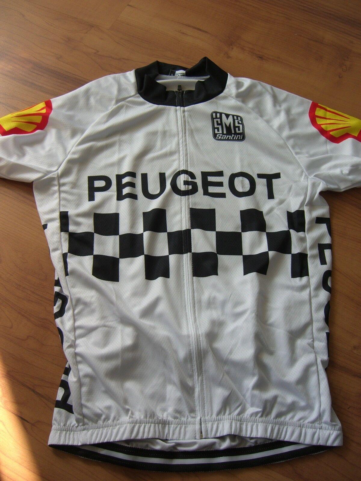 Trikot Peugeot Retro Gr. XL Kurzarm Jersey neu Jersey Kurzarm ungetragen Tour de France 59af93