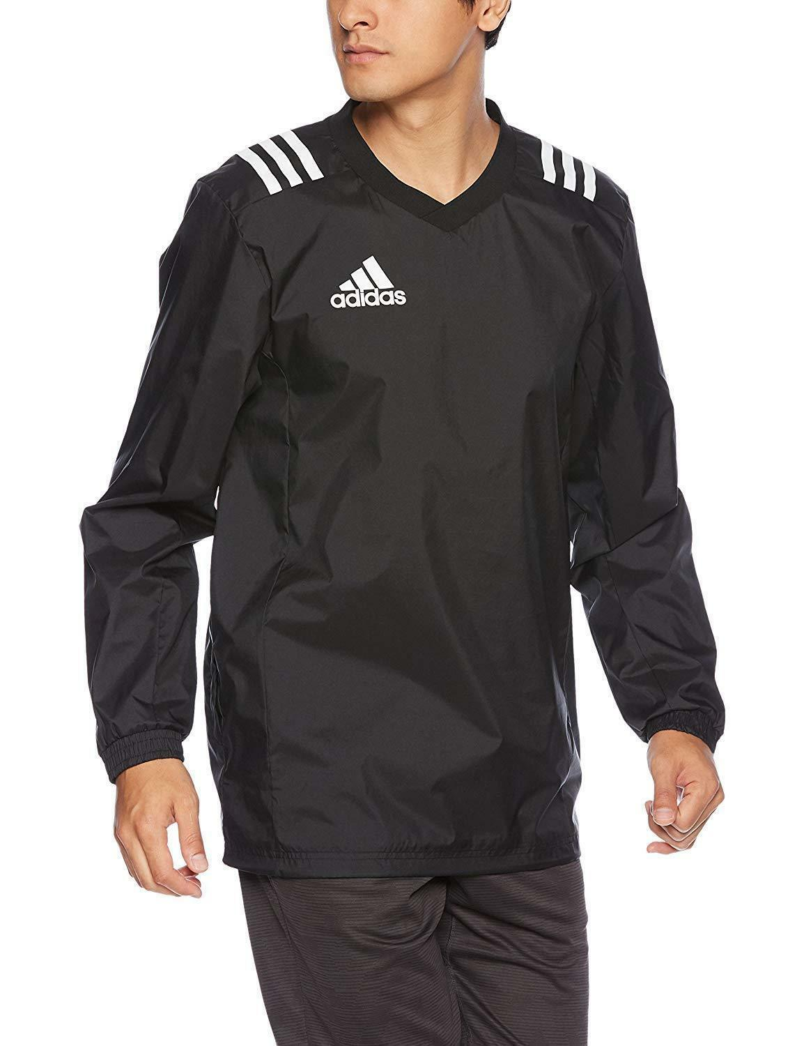 Adidas Men's schwarz Rugby Contact Pullover Water Resistant Track Top