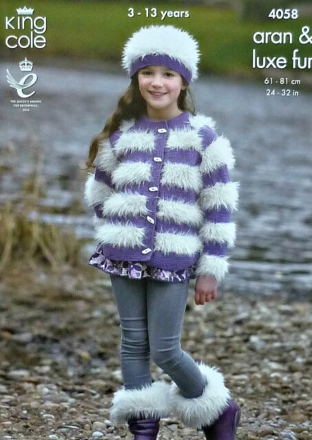 Gilet King Cole Girls Jacket Boot Toppers Hat /& Headband Merino Blend ...
