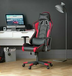 Wondrous Details About X Rocker Height Adjustable Alpha Office Gaming Chair Black Red E119 Uwap Interior Chair Design Uwaporg