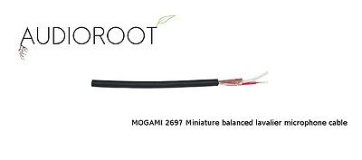 Bulk 10 foot of MOGAMI 2697 Miniature balanced lavalier microphone cable