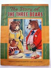 """RARE 1944 Children's Book """"The Story of The Three Bears"""" w/ Cute Pictures   *"""