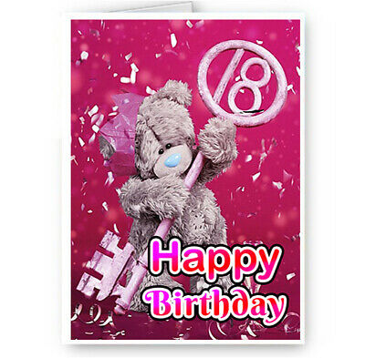 Awesome A5 Happy 18Th Birthday Card Daughter Grandaughter Niece Bff Funny Birthday Cards Online Alyptdamsfinfo