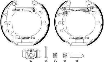 Mintex Frein Arrière Chaussures Set MSP145-Brand new-genuine-Garantie 5 an