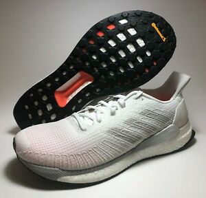 Adidas-Solar-Boost-19-Cloud-White-Orange-Running-Shoes-G28058-Men-s-Size-10-New