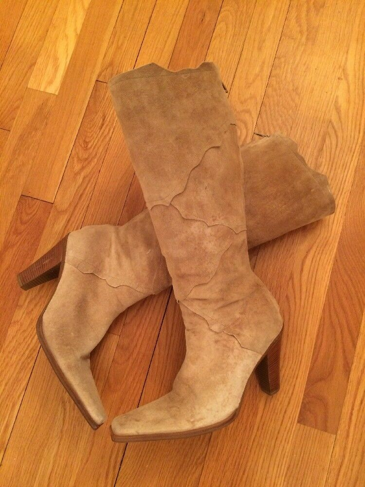 Nine West Tan Farbeed Cowgirl  Style boots Größe M