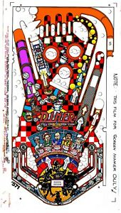 Details about WILLIAMS DINER Pinball Machine Playfield Overlay