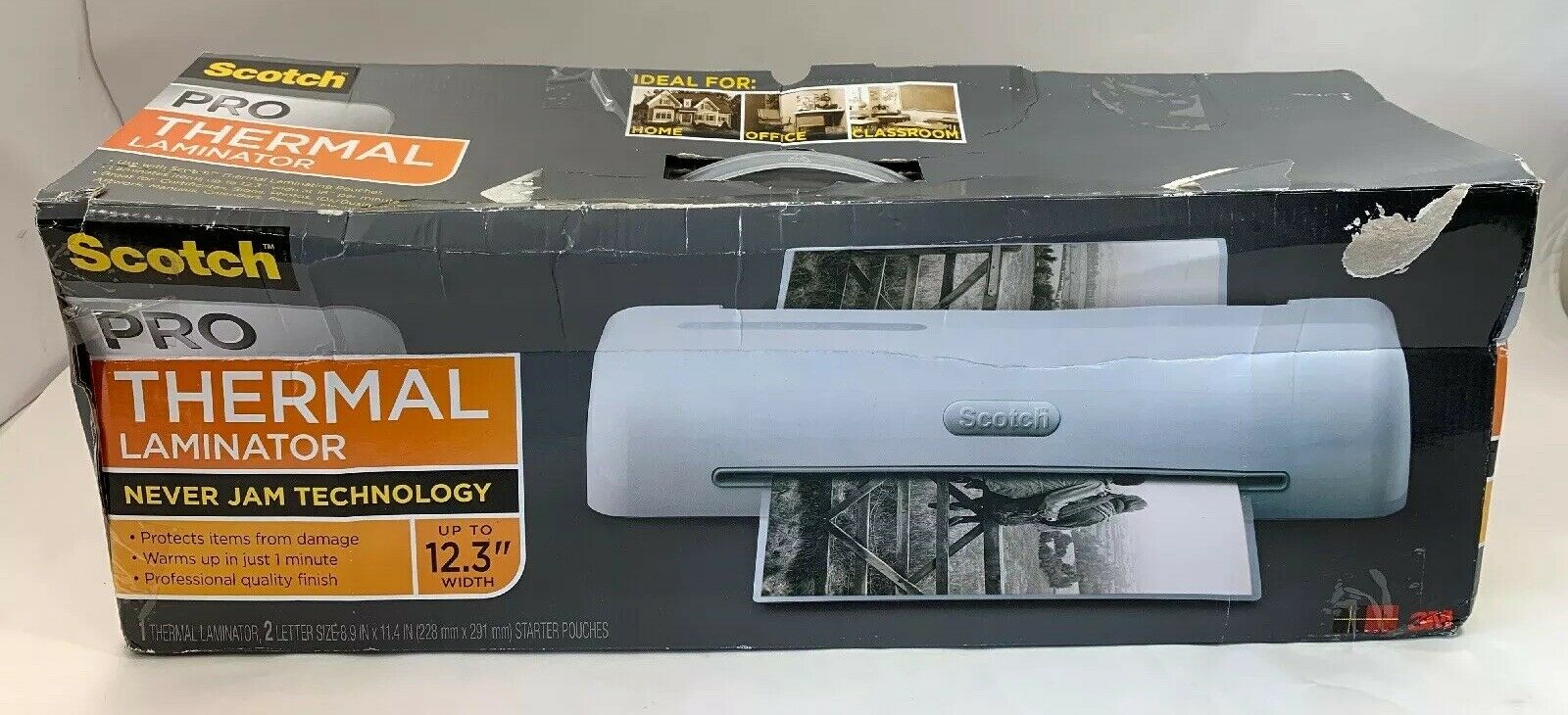 "3M Scotch PRO Thermal Laminator Up To 12.3"" Width -Never Jams Technology -NEW"
