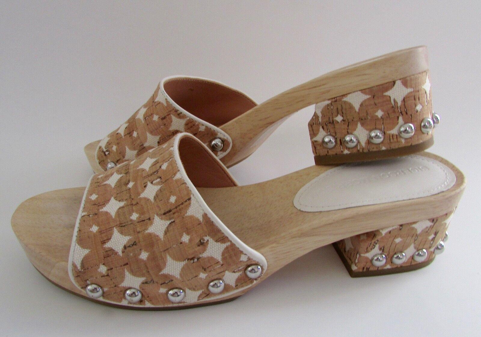 250 Sigerson Morrison AKIRA Wooden Slide Clog Sandals 6.5 EUC