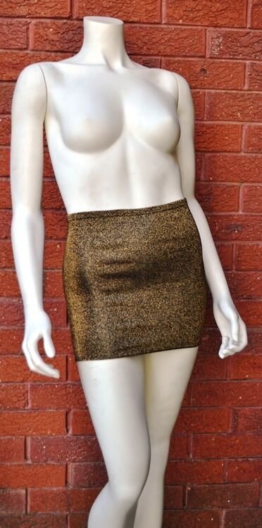 NEW WOMEN'S GORGEOUS MINI SKIRT LINGERIE- gold 999 - FREE DOMESTIC SHIPPING