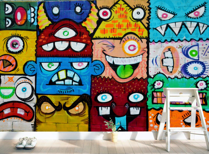 3D 3D 3D Lustiger Graffiti 844 Tapete Wandgemälde Tapete Tapeten Bild Familie DE | Deutschland Shop  887f91