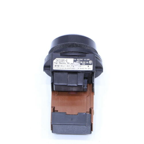* FUJI DR30B5-EB AUDIO BUZZER BLACK W// RED LED 12-24 VAC//DC