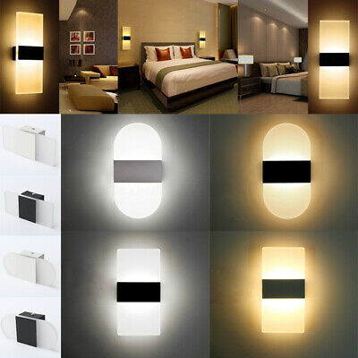 modern led wall light up down cube outdoor indoor sconce